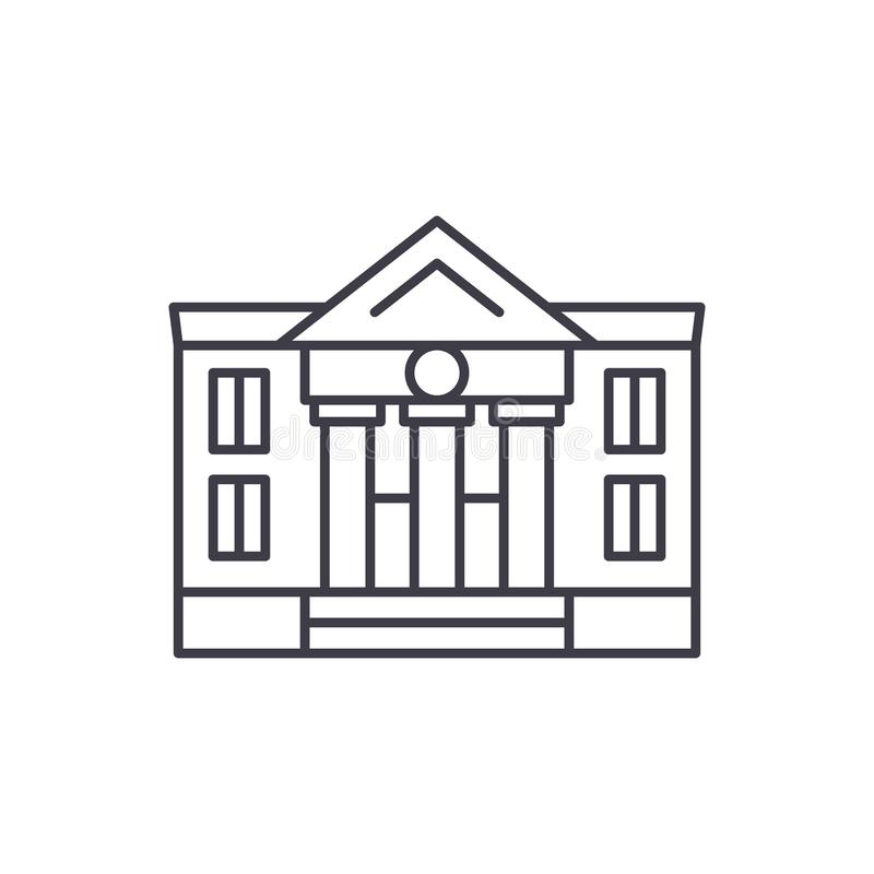 Alignement administratif concept d'icône Illustration linéaire de construction administrative de vecteur, symbole, signe illustration de vecteur