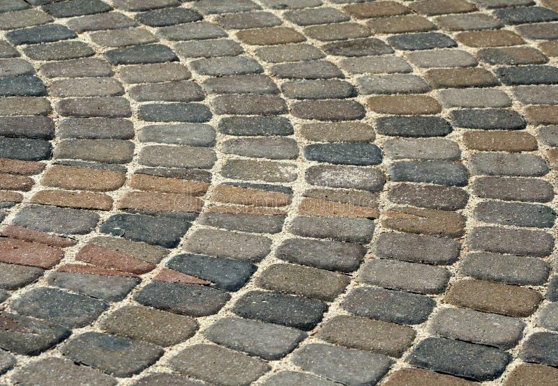 Alignement circulaire de briques images stock