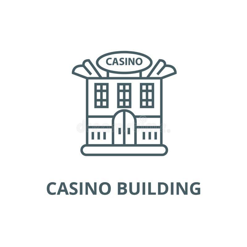 Alignement de casino icône, vecteur Signe d'ensemble de bâtiment de casino, symbole de concept, illustration plate illustration libre de droits