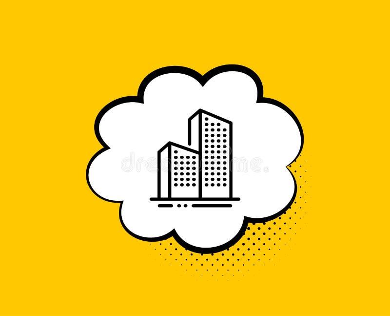 Alignement de gratte-ciel ic?ne signe d'architecture de ville Ville Vecteur illustration stock