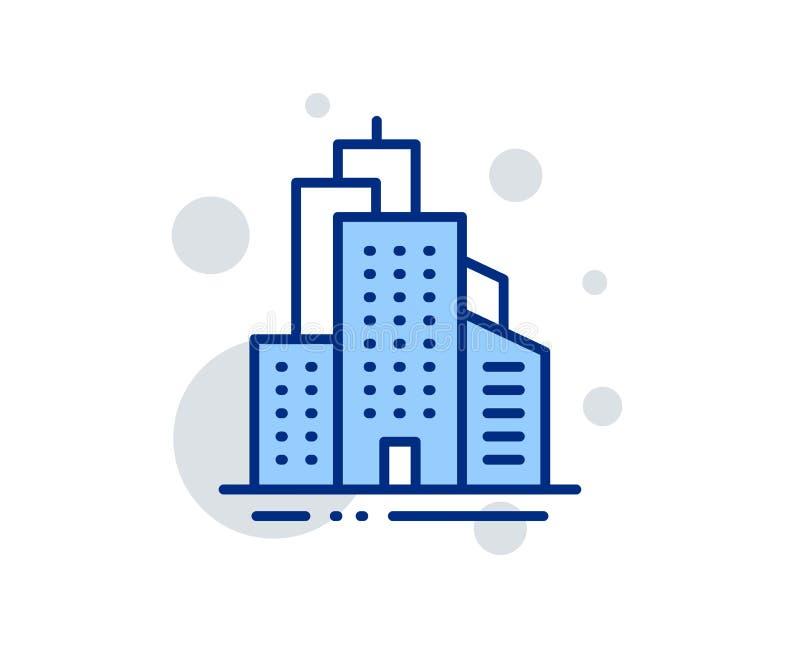 Alignement de gratte-ciel ic?ne signe d'architecture de ville Ville Vecteur illustration de vecteur