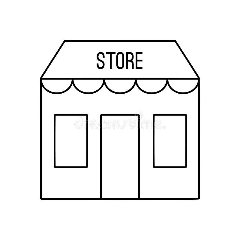 Alignement de magasin icône illustration stock