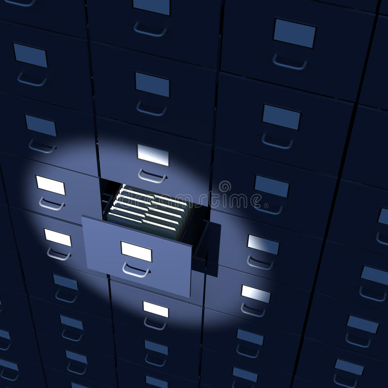 Alignement sans fin de modules de fichier illustration de vecteur