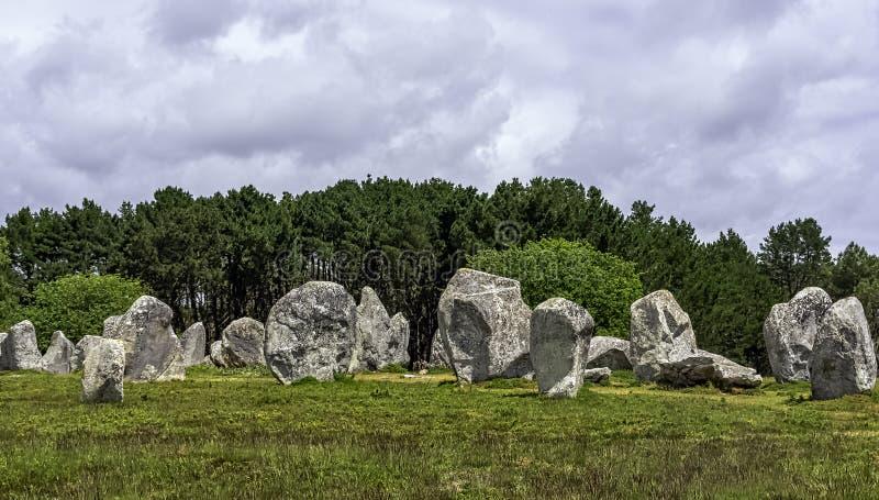 Alignements de Carnac - pedras de Carnac foto de stock royalty free