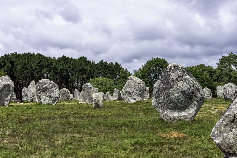 Alignements de Carnac - pedras de Carnac imagem de stock royalty free