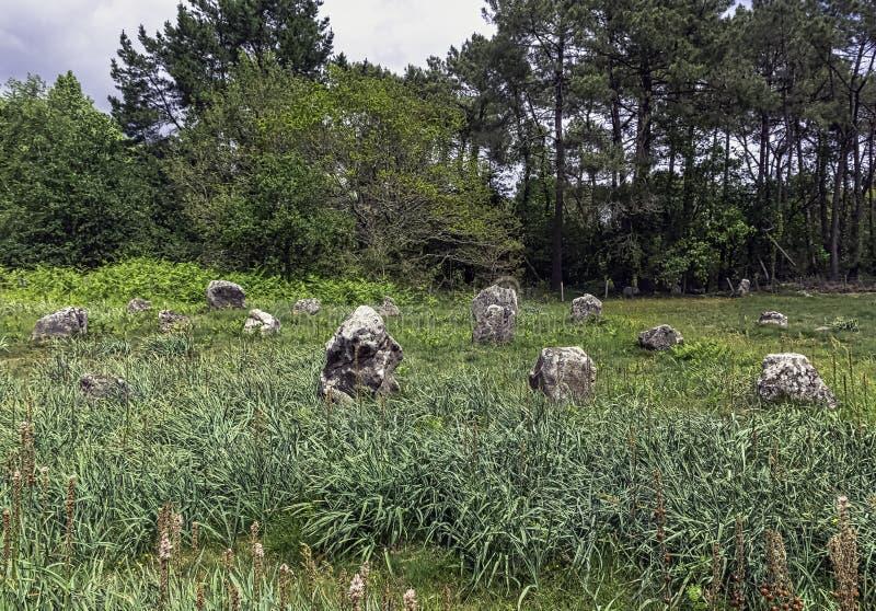 Alignements de Carnac - pedras de Carnac foto de stock