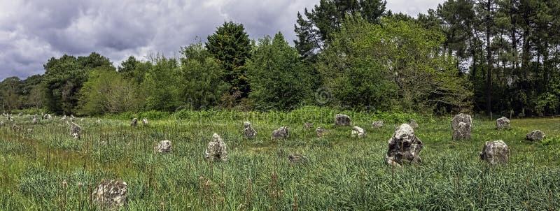 Alignements de Carnac - pedras de Carnac imagens de stock royalty free