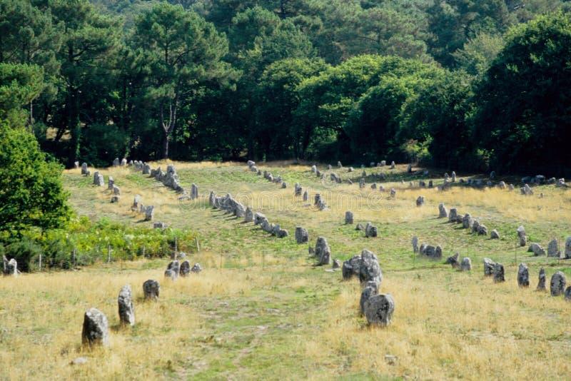 Alignements néolithiques photo stock