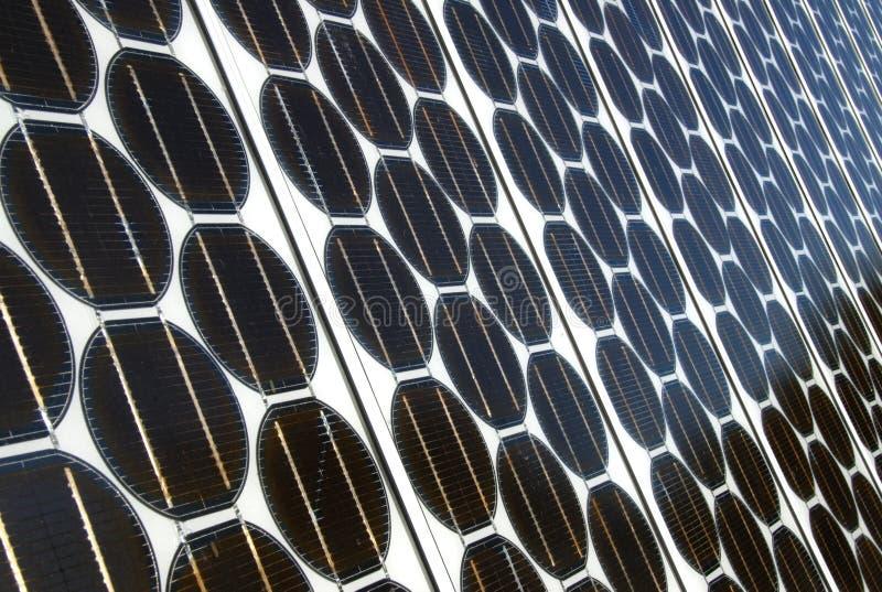 Alignements photovoltaïques photographie stock