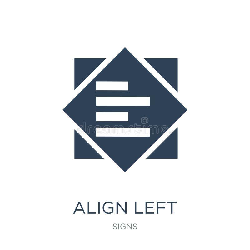 alignez l'icône gauche dans le style à la mode de conception alignez l'icône gauche d'isolement sur le fond blanc alignez l'icône illustration libre de droits
