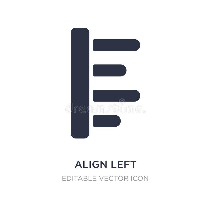 alignez l'icône gauche sur le fond blanc Illustration simple d'élément de concept de signes illustration de vecteur