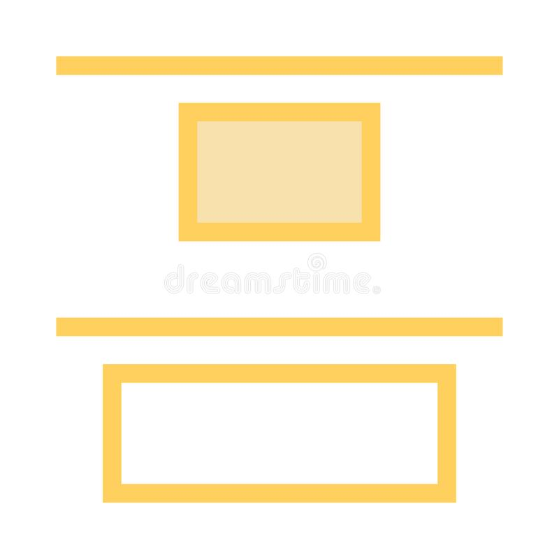 Alignment color line icon. Vector flat Icon. Elements for mobile concept and web apps. Thin line icons for website design and development, app development royalty free illustration