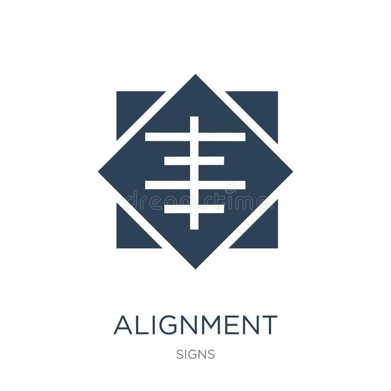alignment icon in trendy design style. alignment icon isolated on white background. alignment vector icon simple and modern flat stock illustration