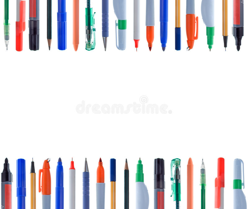 Download Alignment Of Writing Instruments Stock Photo - Image: 5751014