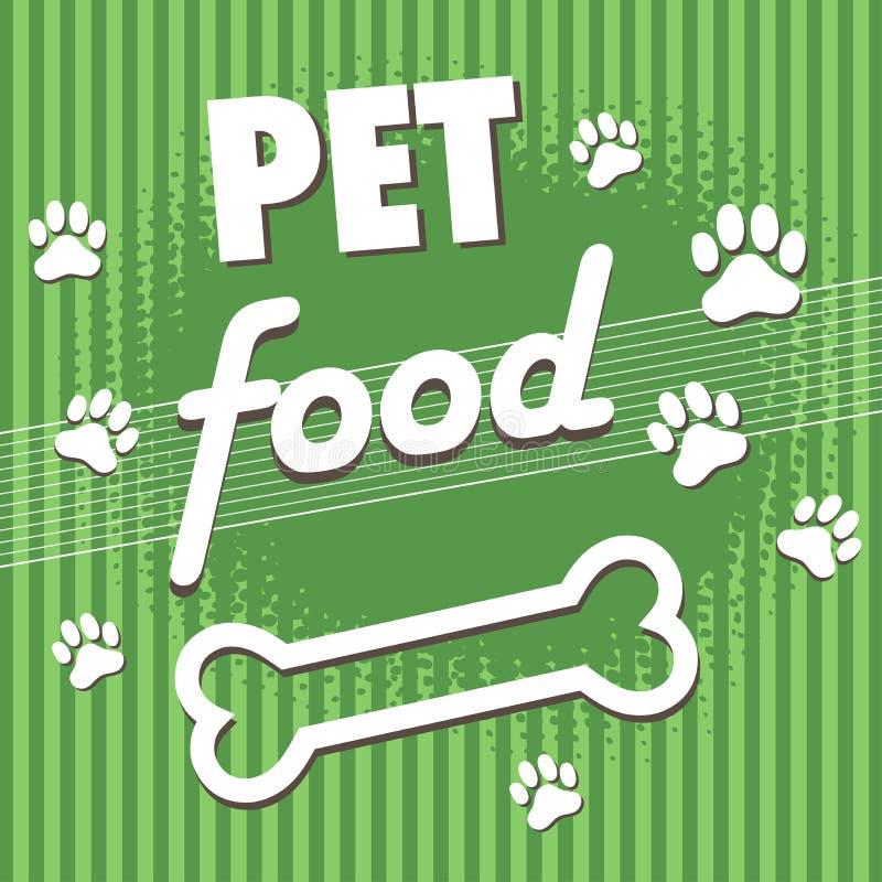 Aliment pour animaux familiers illustration libre de droits