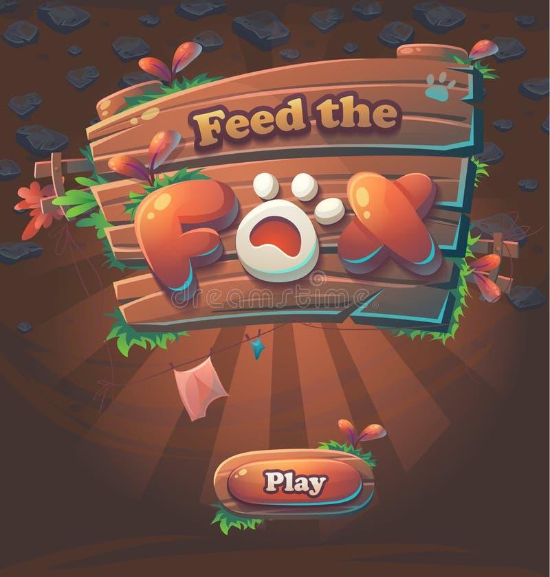 Alimentação da janela do jogo o Fox ilustração royalty free