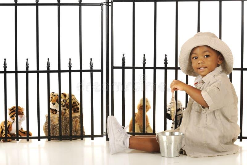 Alimentação do Zookeeper fotos de stock royalty free