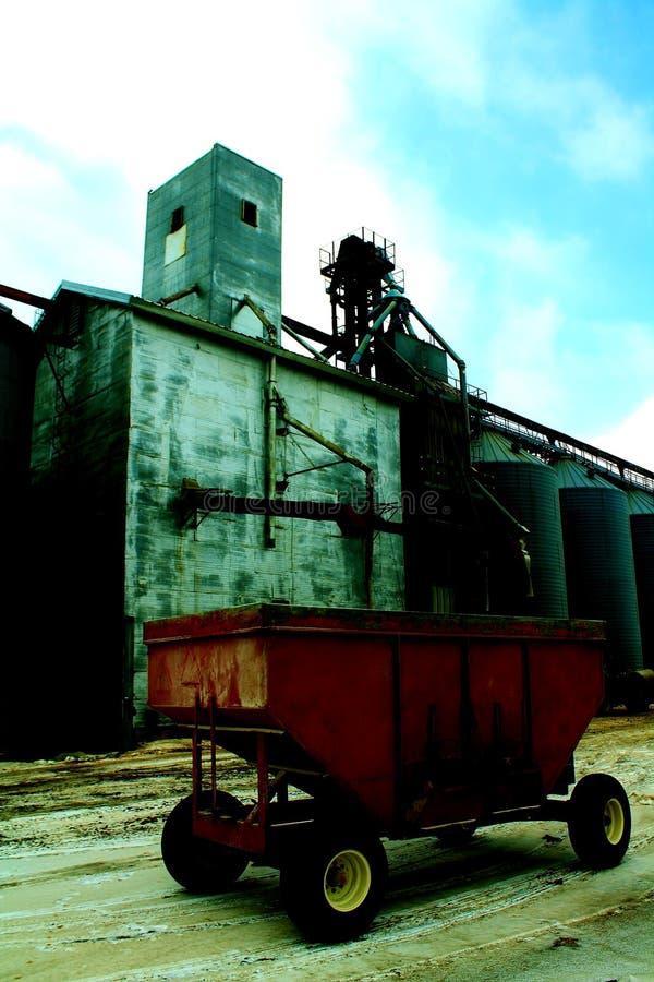 Alimentação industrial da exploração agrícola imagem de stock