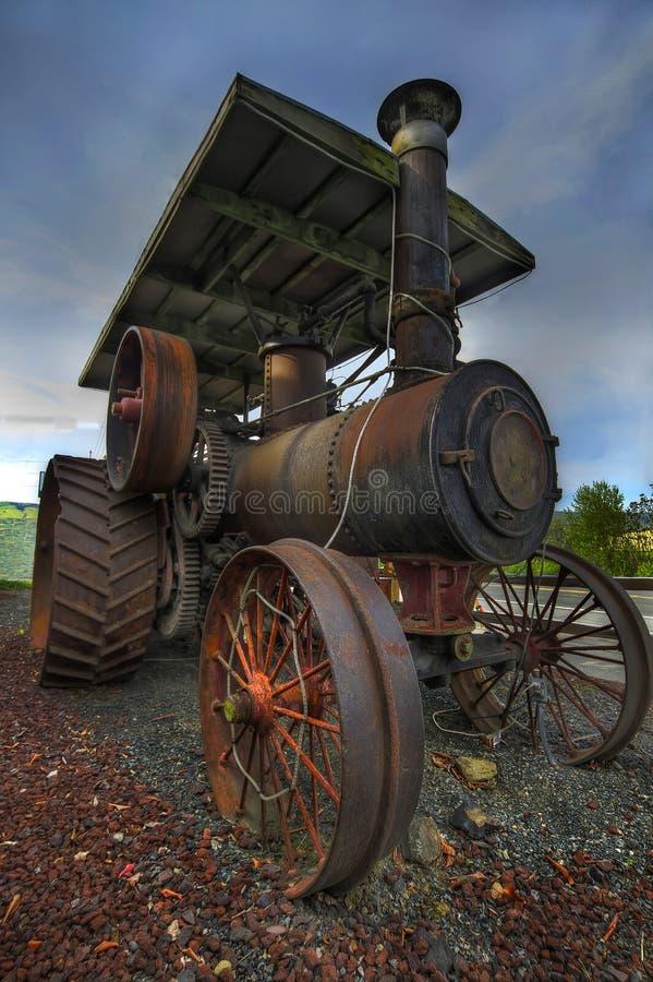 Alimentador de granja viejo del vapor foto de archivo libre de regalías
