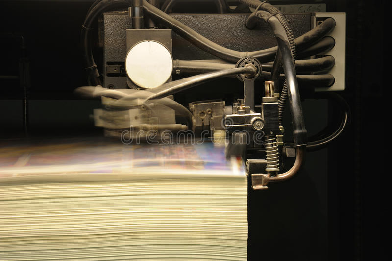 Impresión compensada de la prensa, detalle imagenes de archivo