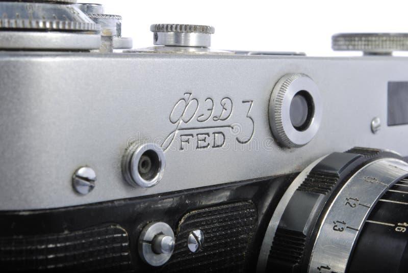 3 ALIMENTADOS, rangefinder do russo 35mm, 61 industar imagem de stock royalty free