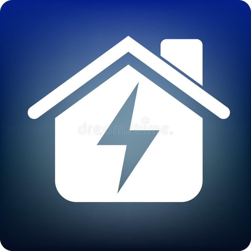 Alimentation d'énergie à la maison illustration de vecteur