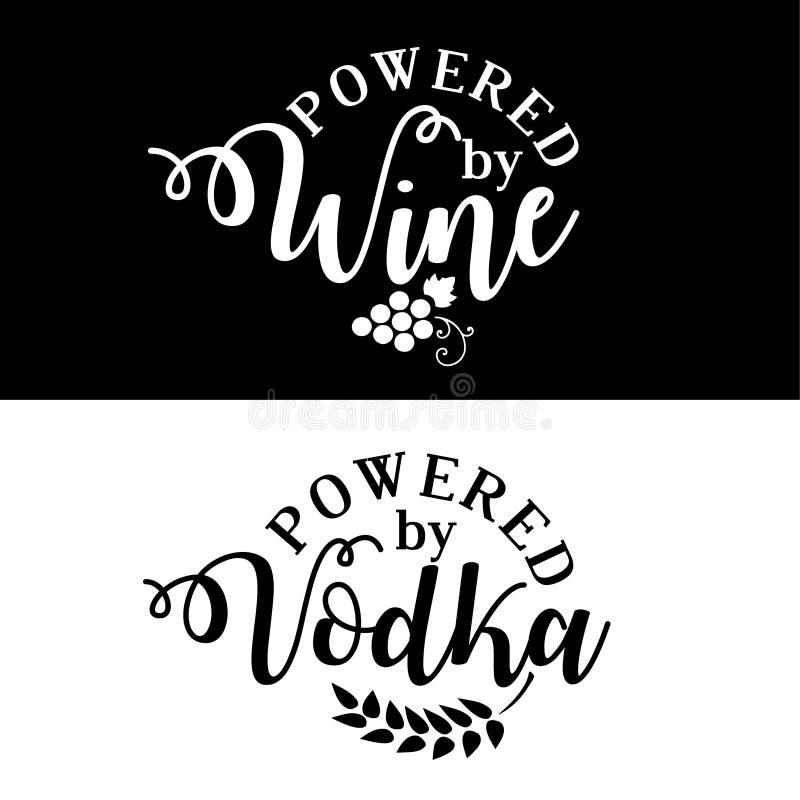 Alimentato da vino/da vodka royalty illustrazione gratis