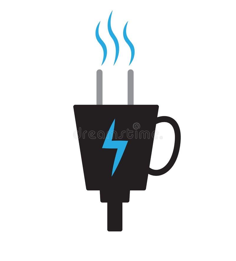 Alimentato dalla spina del caffè illustrazione vettoriale