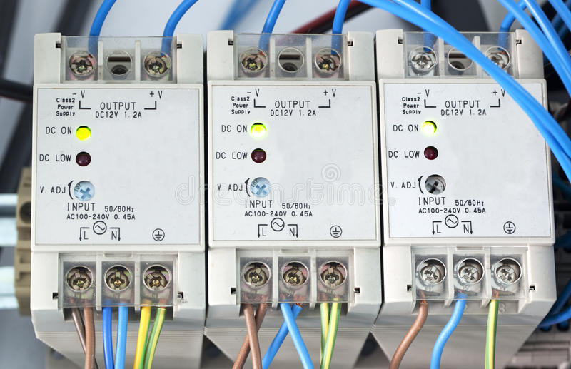 Alimentazione elettrica della corrente elettrica fotografie stock
