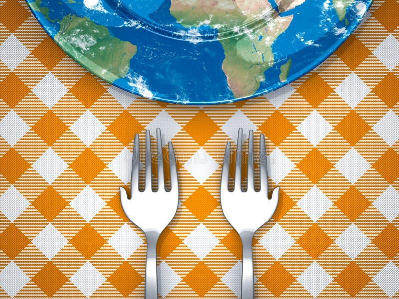 Alimente el mundo ilustración del vector