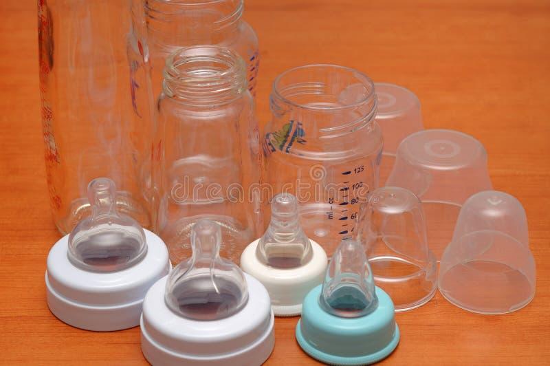 alimenter de bouteilles photo libre de droits