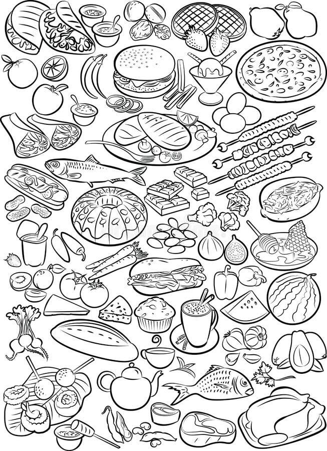 alimenti illustrazione di stock