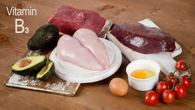 Alimenti alti in vitamina B3 fotografie stock