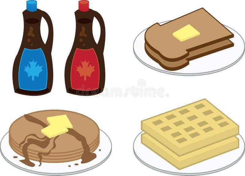 Alimenti di prima colazione royalty illustrazione gratis