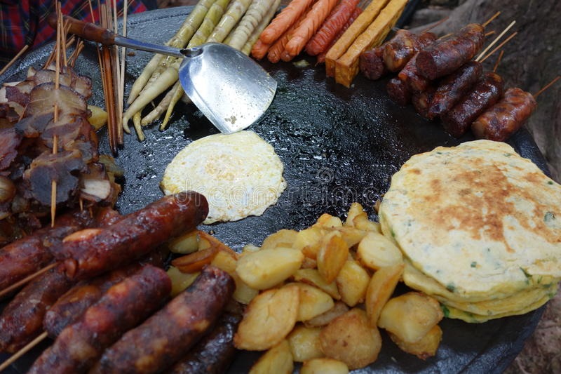 Alimenti fritti cinese fotografie stock