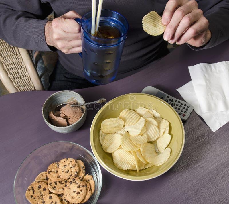 Alimenti industriali mangiatori di uomini fotografia stock libera da diritti