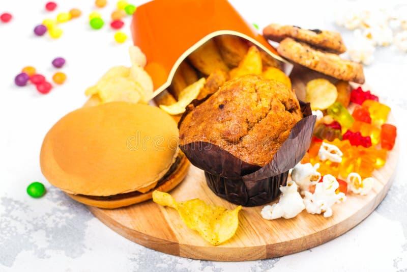 Alimenti industriali non sani immagine stock