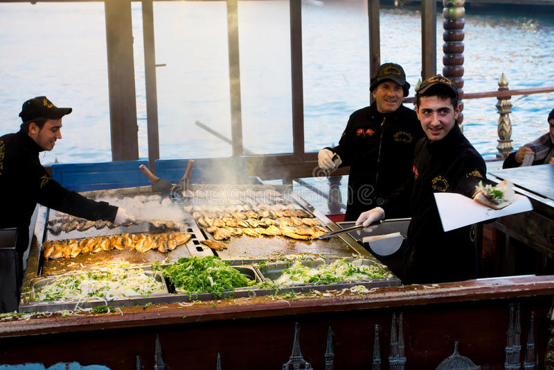 Alimenti a rapida preparazione a Costantinopoli immagini stock