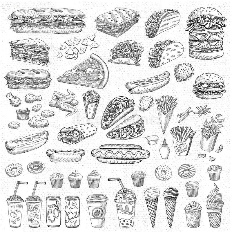 Alimenti a rapida preparazione rassodati di vettore royalty illustrazione gratis