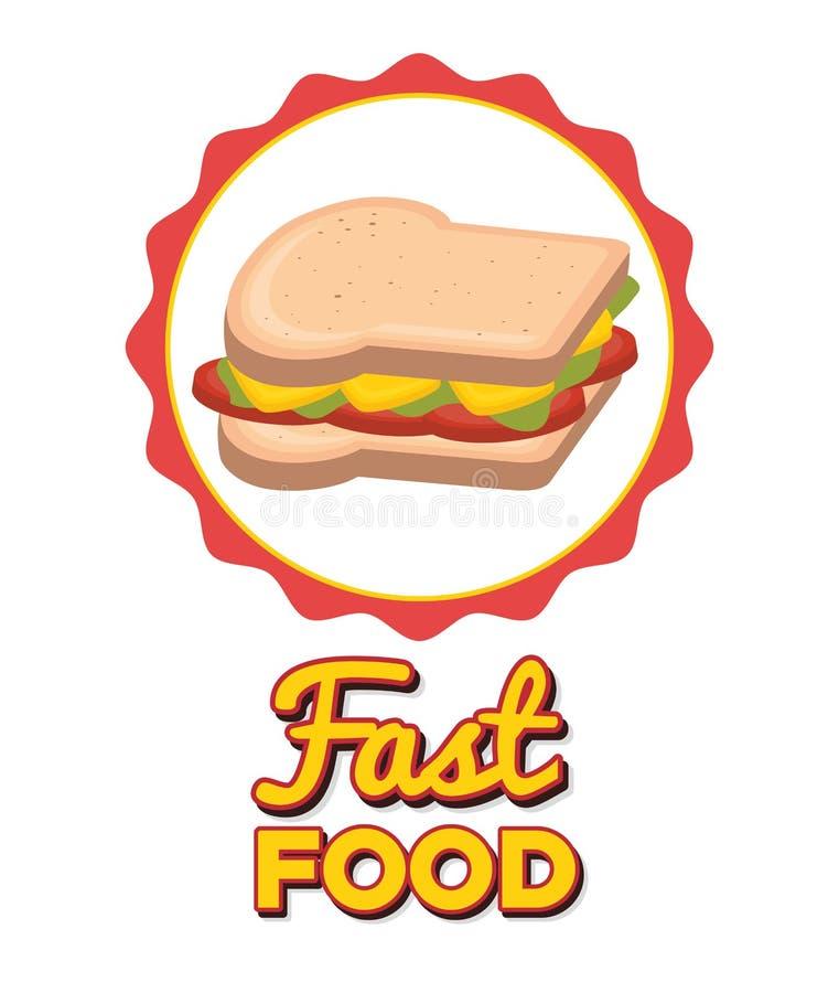Alimenti a rapida preparazione squisiti illustrazione vettoriale