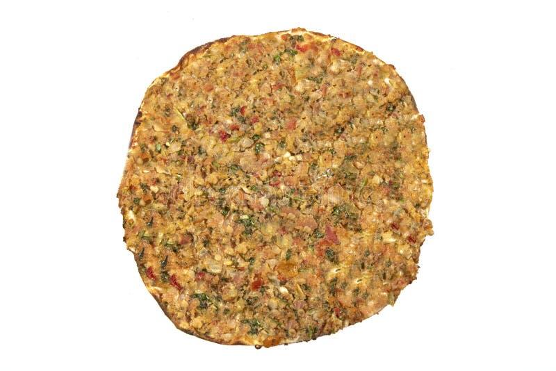 Alimenti turchi; Pizza turca/Lahmacun immagini stock libere da diritti
