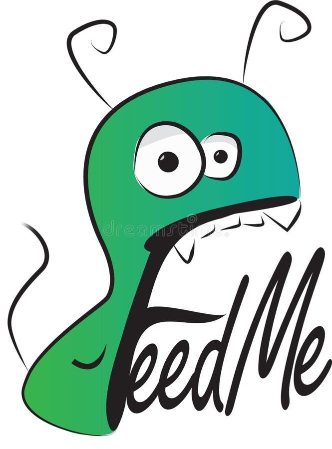 Alimentimi il logo del mostro fotografie stock libere da diritti