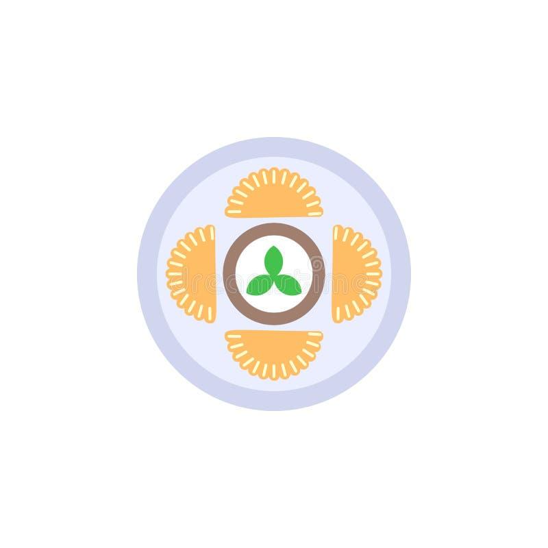 Alimento, ícone do pierogi Elemento do ícone internacional do alimento da cor ?cone superior do projeto gr?fico da qualidade sina ilustração royalty free