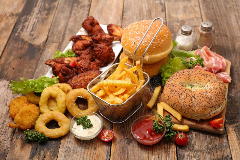Alimento americano sortido imagem de stock royalty free