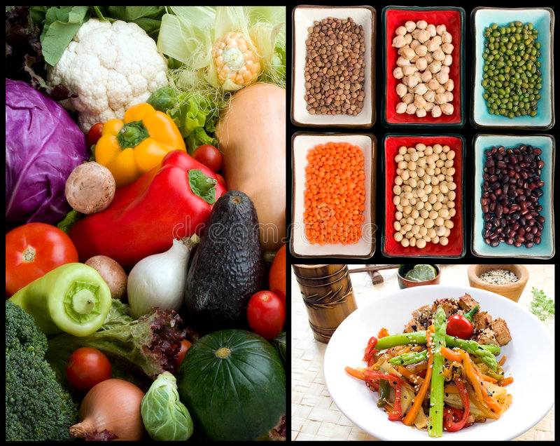 Alimento & ingredienti vegetariani fotografie stock libere da diritti