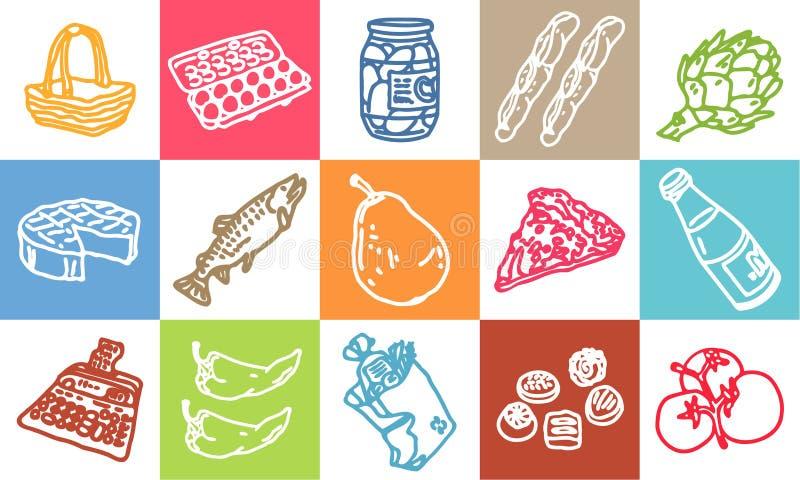 Alimento & mercado ilustração royalty free