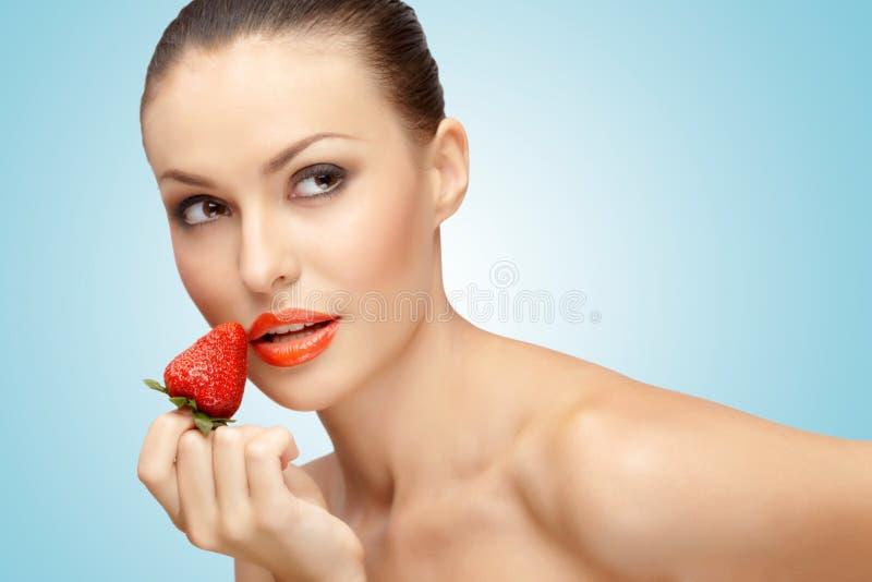 Alimento apaixonado. fotografia de stock royalty free