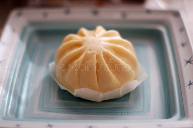Alimento asiático carne de porco cozinhada Bao Dim Sum Buns fotos de stock royalty free