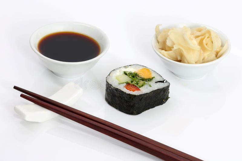 Alimento asiático, sushi imagem de stock