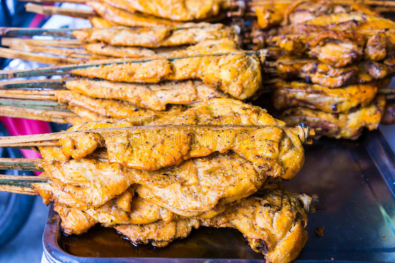 Alimento asiático tradicional no mercado fotos de stock royalty free